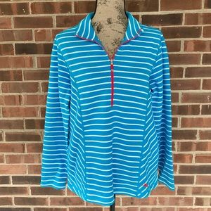 NWT Tommy Bahama Aruba Striped half zip jacket